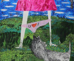 1_Cristi-Gaspar,-I-love-you,-96x116cm,-acylic-on-canvas,-2009