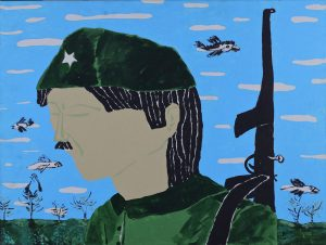 1_Cristi-Gaspar,-The-soldier,-50x70cm,-acylic-on-canvas,-2015