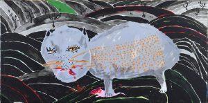 2_Cristi-Gaspar,-Annia's-city,-40x80cm,-acylic-on-canvas,-2015