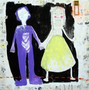 5_Cristi-Gaspar,-Couple,-180x180cm,-acylic-on-canvas,-2011
