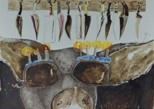 6_Cristi-Gaspar,-A-political-animal,-water-colors-on-paper,-2012