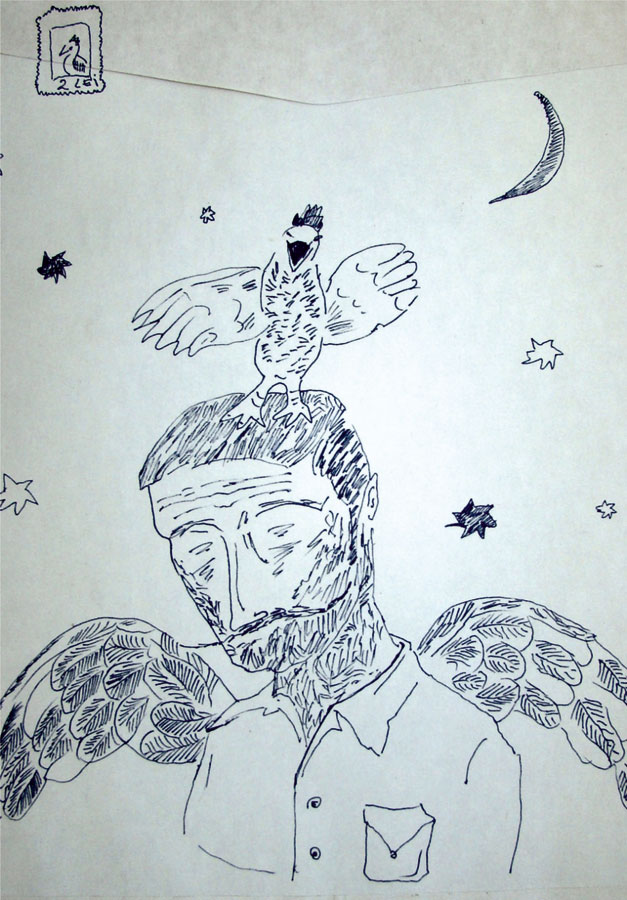 1_-Cristi-Gaspar,-Prioripost-1,-drawing-on-paper-envelope