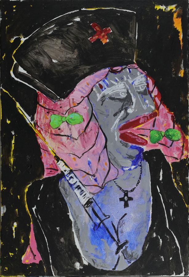 1_Cristi-Gaspar,-My-nurse-50x70cm,-acylic-on-canvas,-2018