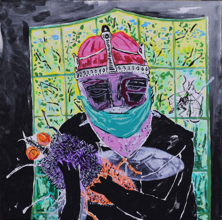 1_Cristi-Gaspar,-My-special-pet,-50x50cm,-acylic-on-canvas,-2018