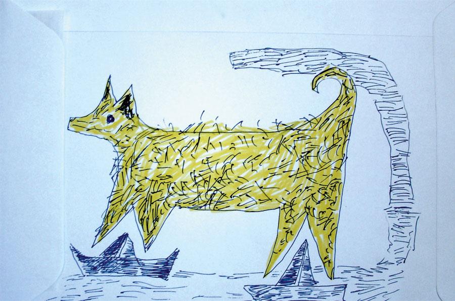 3_-Cristi-Gaspar,-Prioripost-3,-drawing-on-paper-envelope