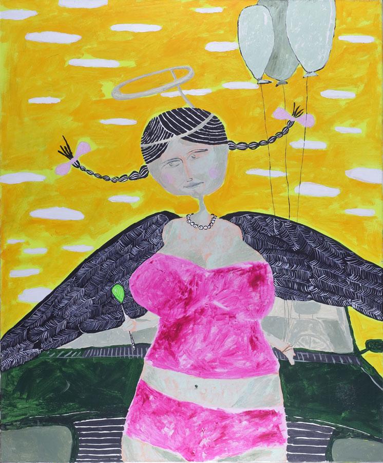 3_Cristi-Gaspar,-Silicon-angel,-96x116cm,-acylic-on-canvas,-2009