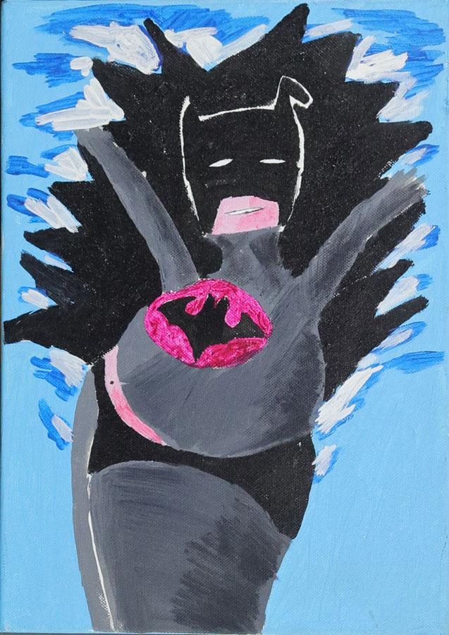 4_Cristi-Gaspar,-Batman,-30x40cm,-acylic-on-canvas,-2014