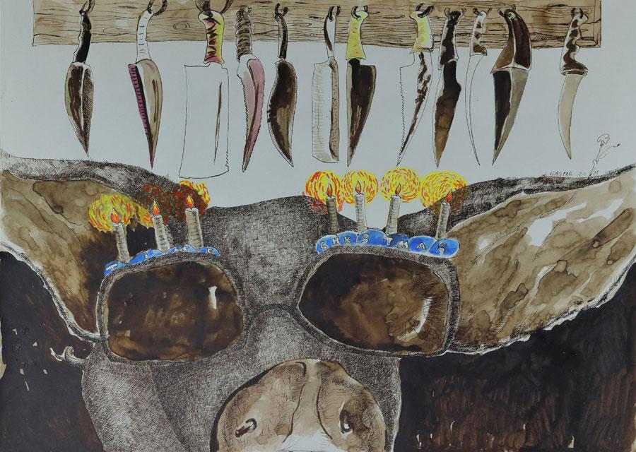6_Cristi-Gaspar,-A-political-animal,-water-colors-on-paper,-2012
